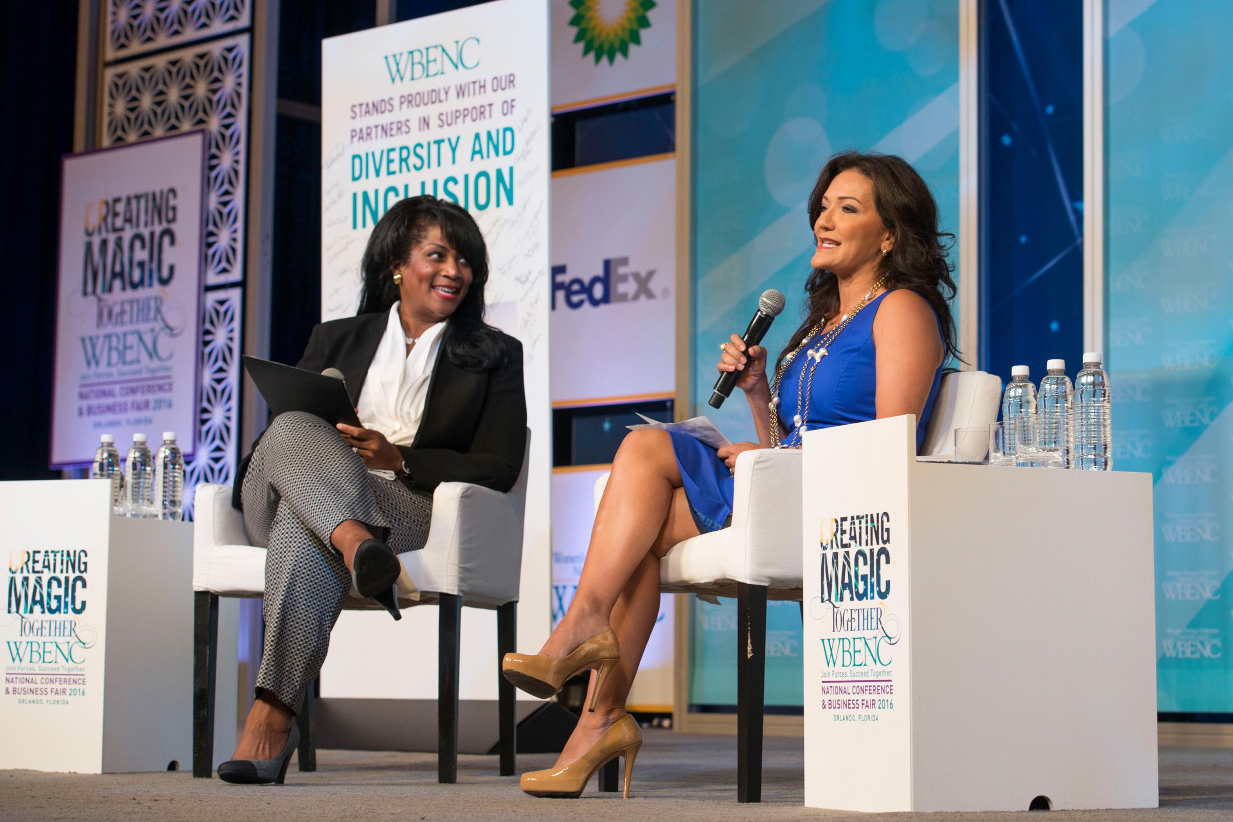 Regina Heyward (Wells Fargo) and Nina Vaca (Pinnacle Group)