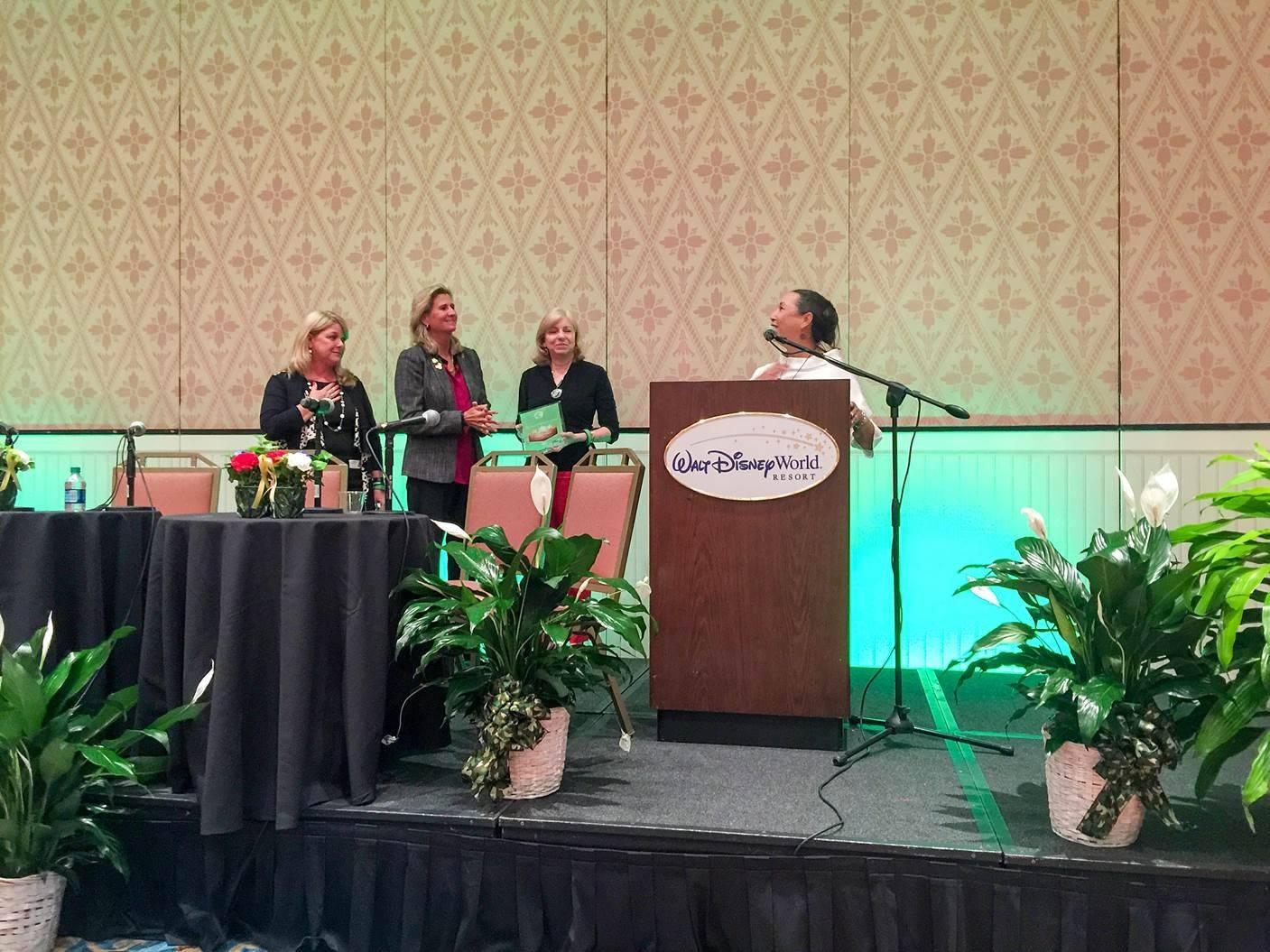 Nancy Allen, President & CEO of  WBDC of FL winning the Mary Schnack Award