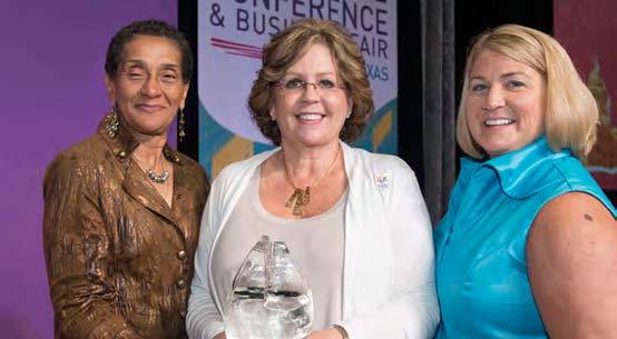 Presenting the Applause Award  Left to Right: Benita Fortner, Chair WBENC Board; Kathy Mazon, Sr. Business Development LEad, Supplier Diversity, Target Corporation; Pamela Prince-Eason, President & CEO, WBENC