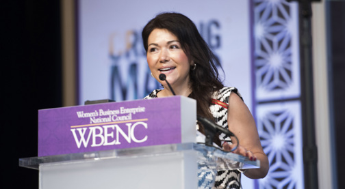 Jessica Narvaez, Chief Diversity Officer at Pinnacle Group was surprised with an Applause Award for her passion and commitment to advancing the mission of WBENC and women-owned businesses.