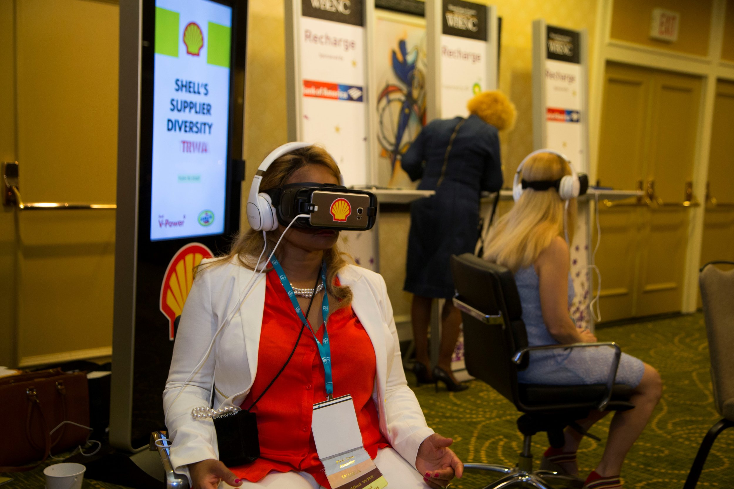 Shell's virtual reality tour gave insight on the number of petrochemical-based products in the average home at the WBENC Summit & Salute.