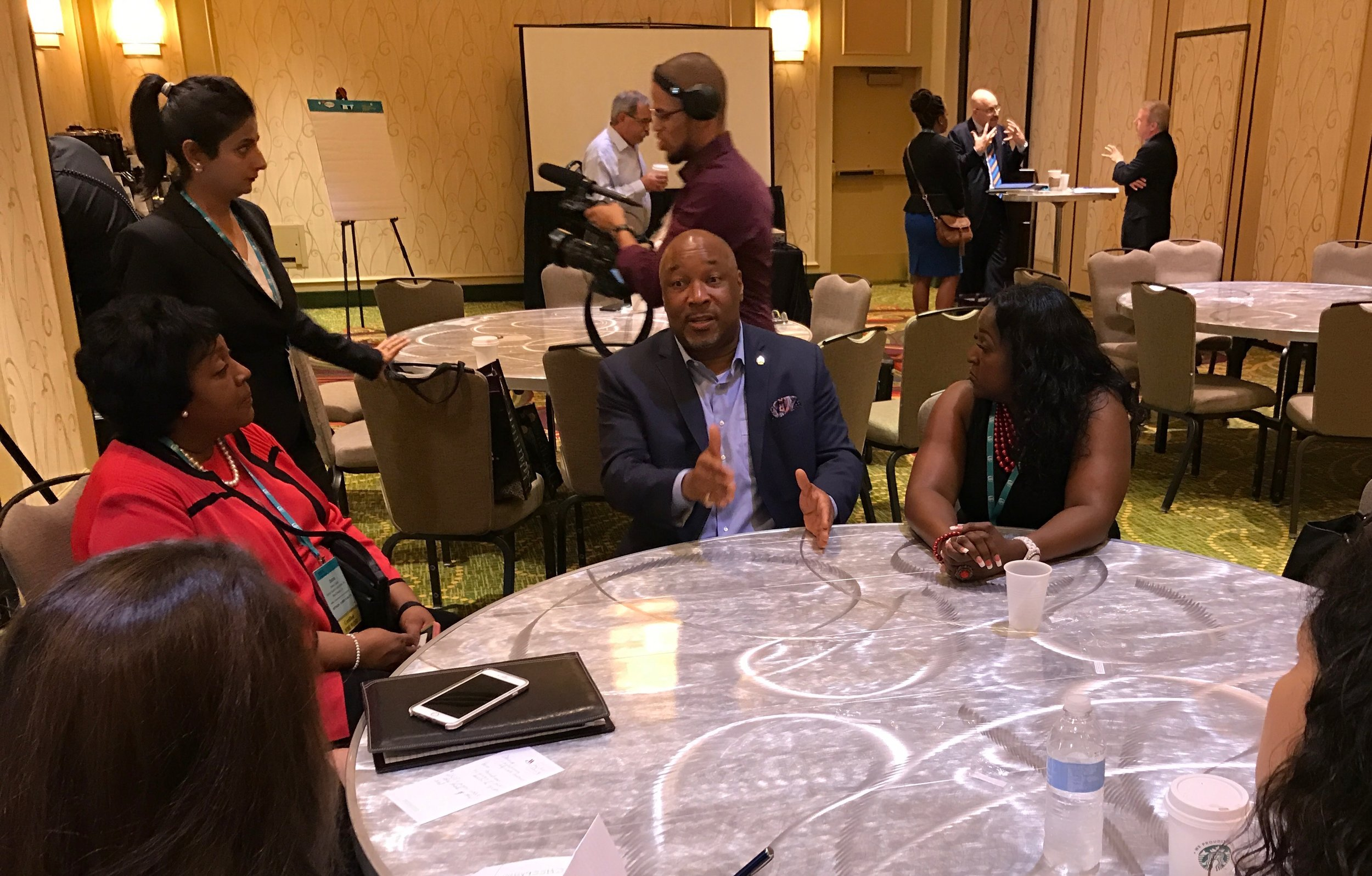 Shell's Brian Hall gives face-to-face advice to WBEs at events like the WBENC Summit & Salute.