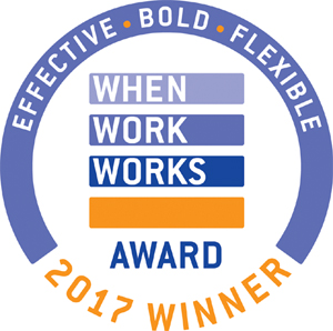 Recipient of the 2017 When Work Works Award for exemplary workplace practices.