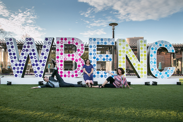 Much fun was had posing with the life-size WBENC letters!