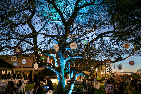 It was a beautiful night in the Anatole Sculpture Garden.