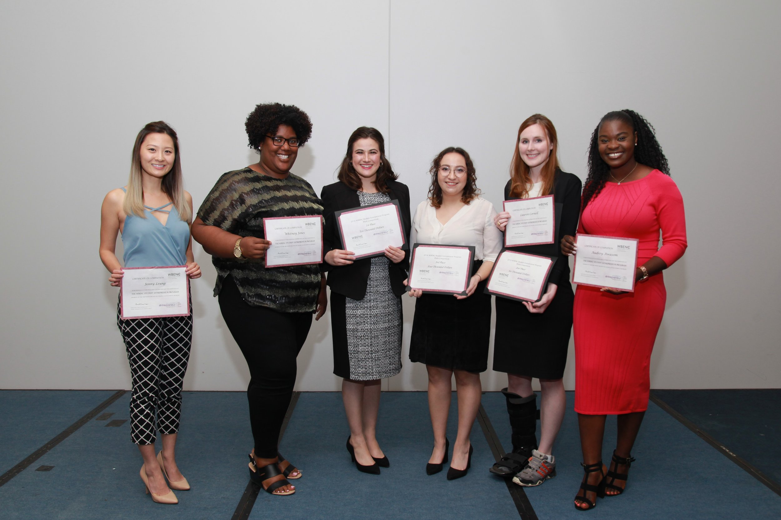 The finalists of the 2018 WBENC SEP Pitch Competition.