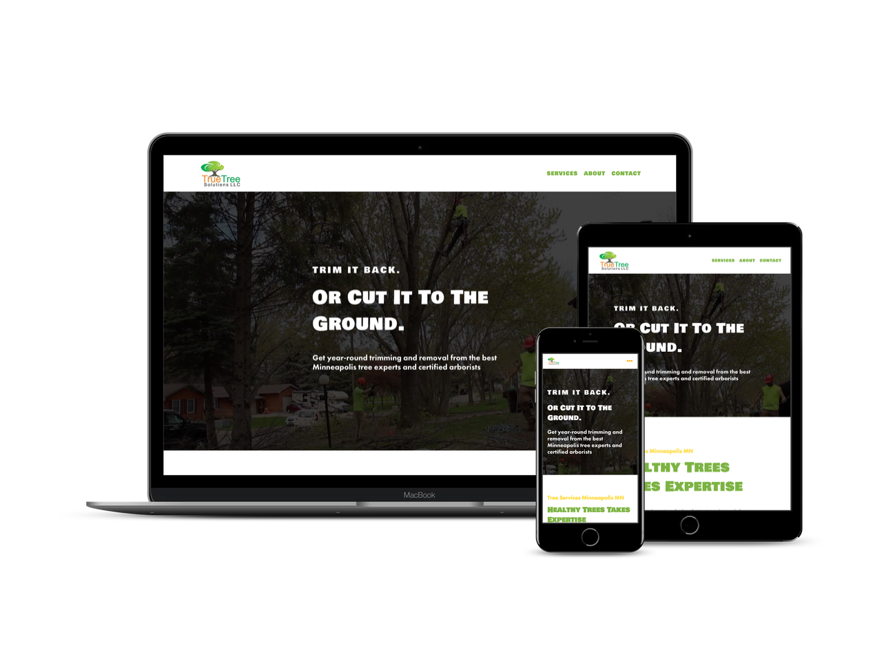 Before & After - Check out how we chopped their website into a brand new one