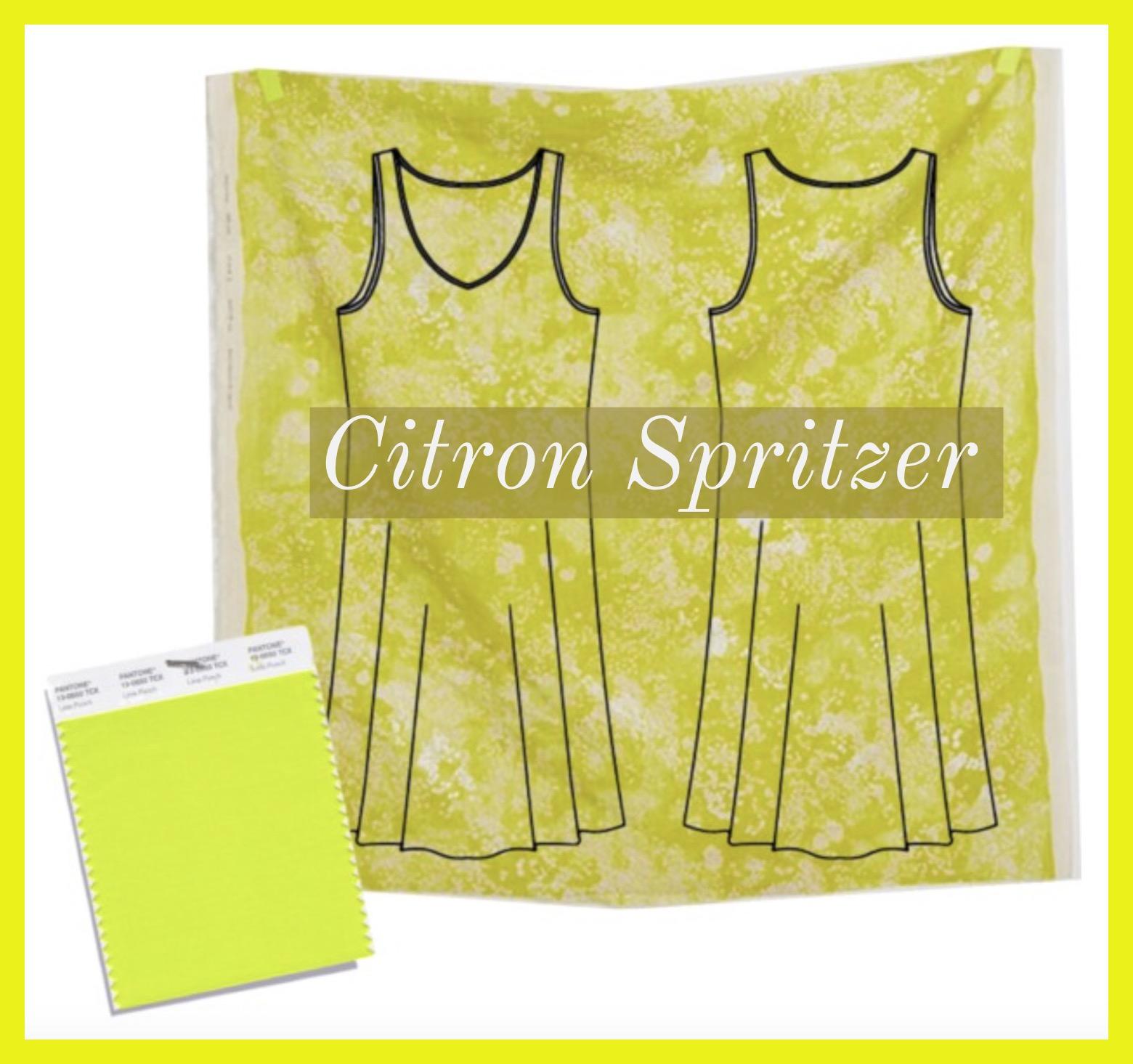 The  Ann Normandy Design Slip Dress Sewing Pattern  with fabric suggestion, Lei Nani, from Nani Iro's fabric collection, at Harts Fabrics.