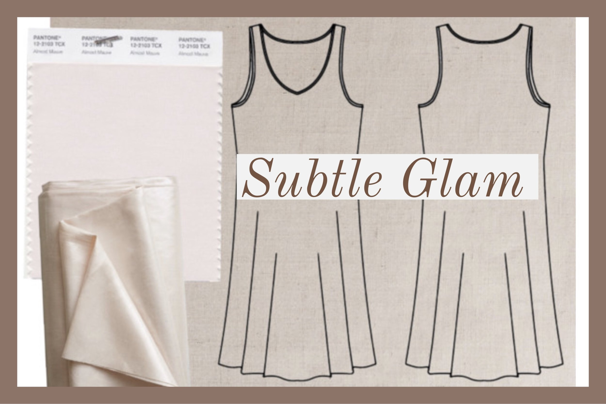 Purl Soho's Mineral Linen Collection  had my at hello. Love Opal Pink, as it's a trending color, but any one of their colors in their palette would be perfect for the  Ann Normandy Design Slip Dress Sewing Pattern . It is a must check out.
