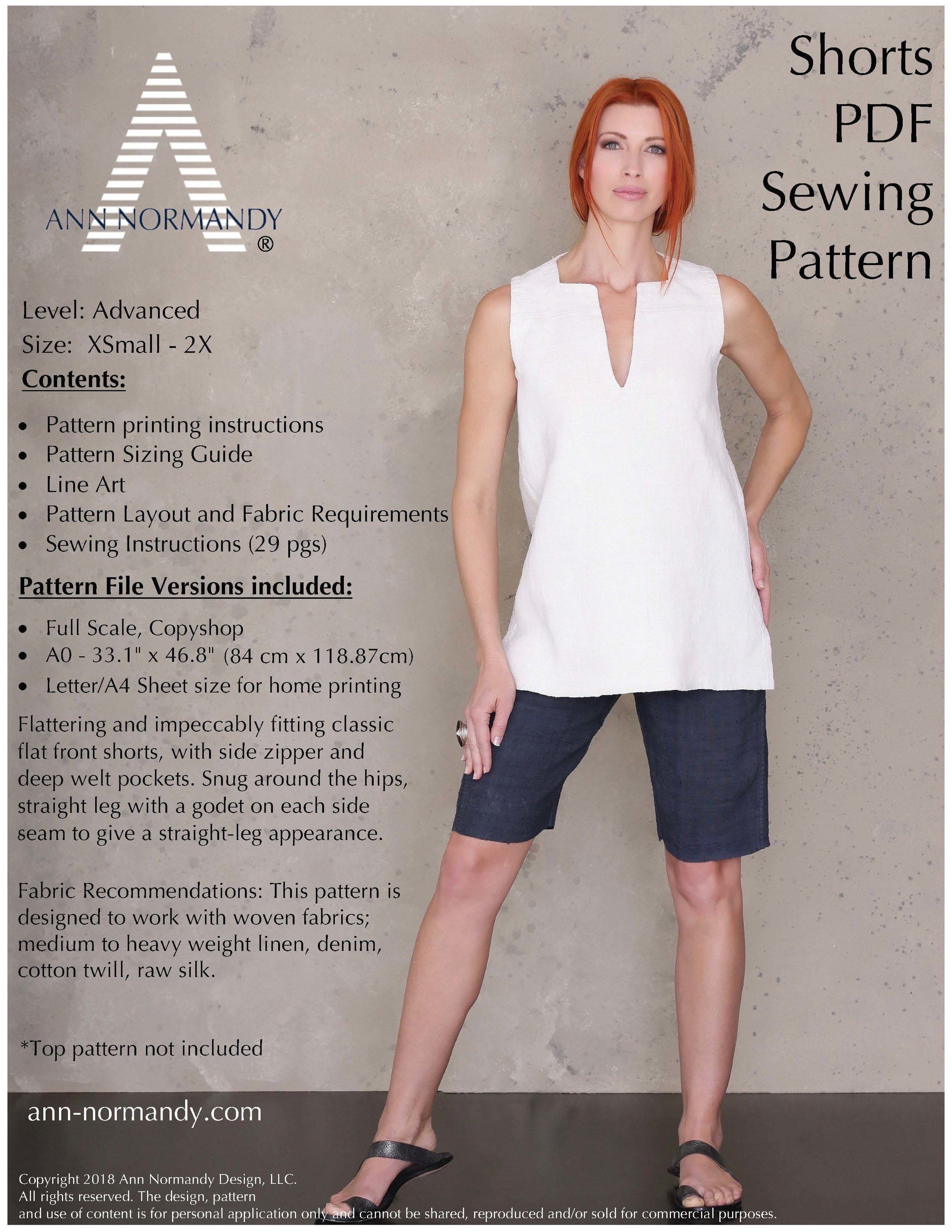 Coming soon, Ann Normandy Design Shorts PDF sewing pattern!