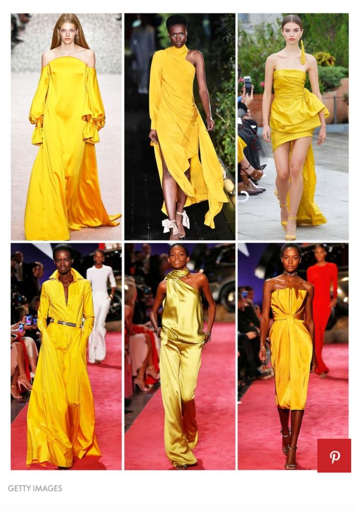 Elle.com featuring bright marigold.