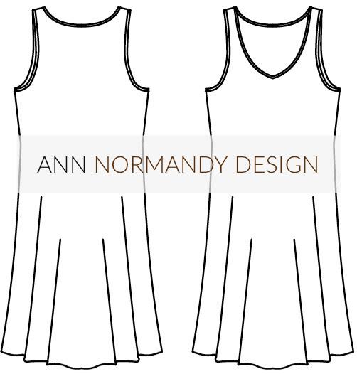 The Slip Dress PDF sewing pattern, by Ann Normandy Design
