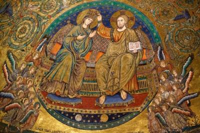 Apse mosaic, Santa Maria Maggiore, Rome