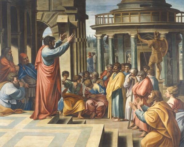"Raphael, ""Saint Paul Preaching in Athens,"" 1515."