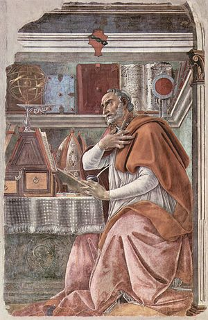 "Botticelli, ""Saint Augustine in His Study,"" 1480."