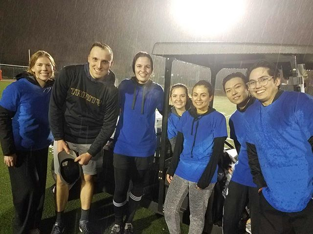#BAP soccer team is determined!! Raining, snowing, no problem. 🥅 🏃♂️⚽️🏃♀️❄️🌧