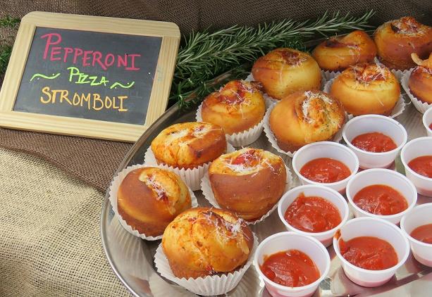 J Wine Bistro's delectable Pepperoni Pizza Stromboli Bites were a big hit at the 2016 festival.