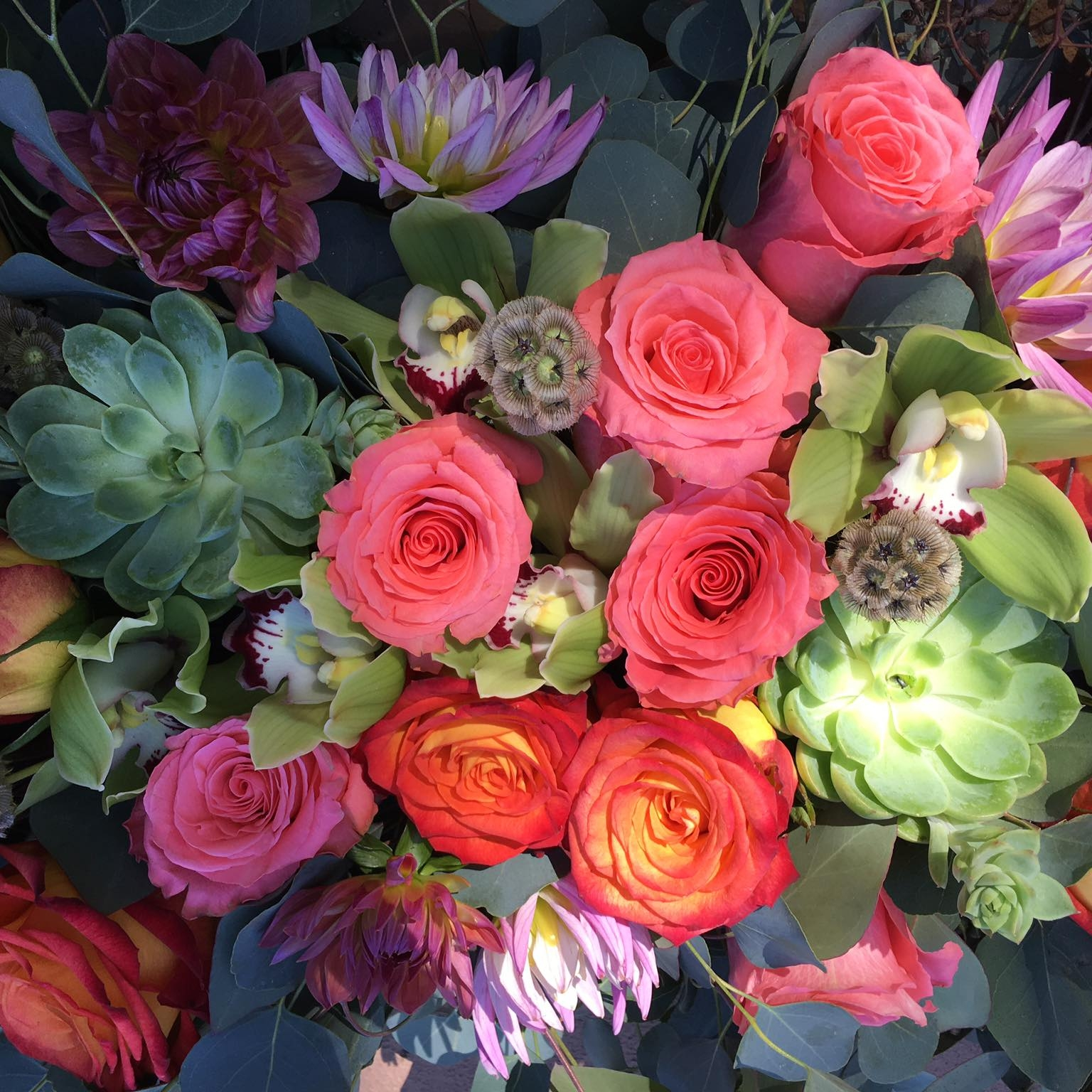 Personalized arrangements with native plants, succulents,and of course an array of mom's favorite flowers