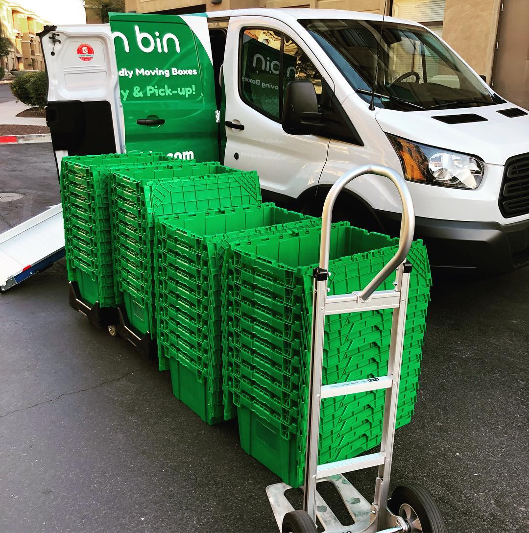 Green Bin delivers, picks up and cleans their sturdy boxes for your moving comfort!