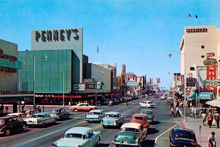 Downtown Phoenix in 1958, photo courtesy of Jon Talton
