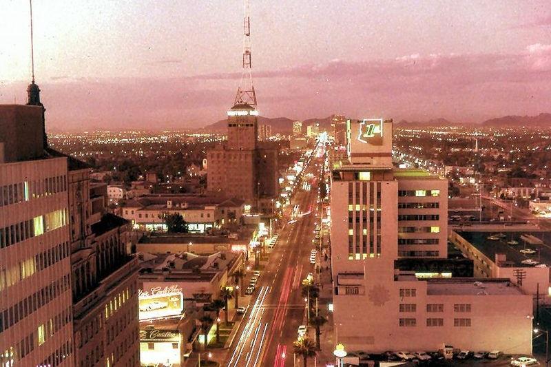 Downtown Phoenix in the 1960's, photo courtesy of Jon Talton