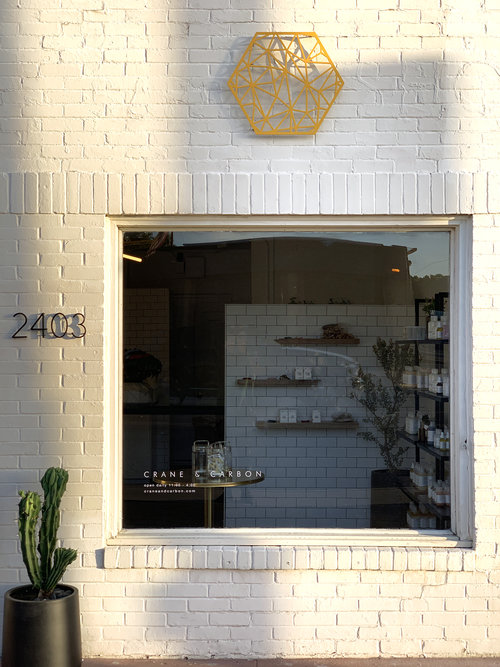 Crane and Carbon's new storefront.