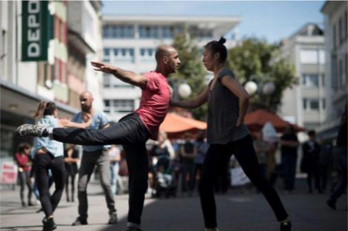 Photo by Meyer & Kangangiz;Dancers:Paul Singh & Jin Ju Song-Begin;Biel, Switzerland,