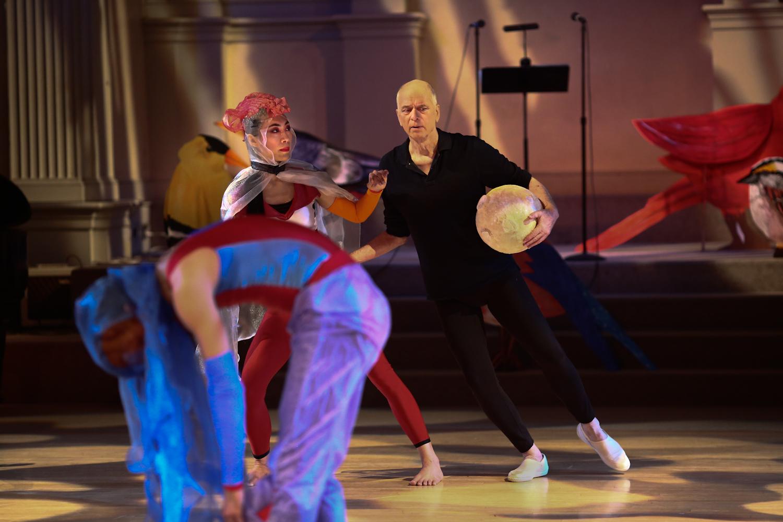 Dancers Left to Right: Timothy Ward, Jin Ju Song-Begin, Douglas Dunn.  Photo © Paula Court, 2017