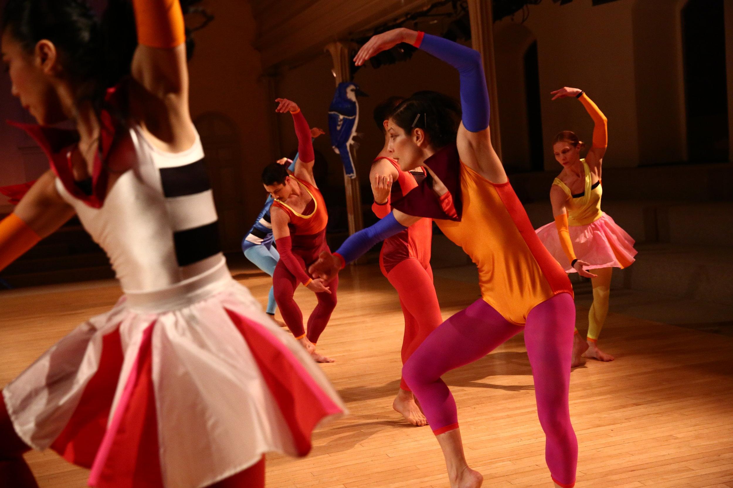 Dancers Left to Right: Jin Ju Song-Begin, Paul Singh, Jake Szczypek, Christopher Williams, Alexandra Berger, Emily Pope, Photo © Paula Court, 2017