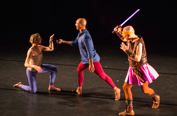 Dancers Left to Right: Emily Pope, Paul Singh, Douglas Dunn. Photo by Marie Noyale, 2017.