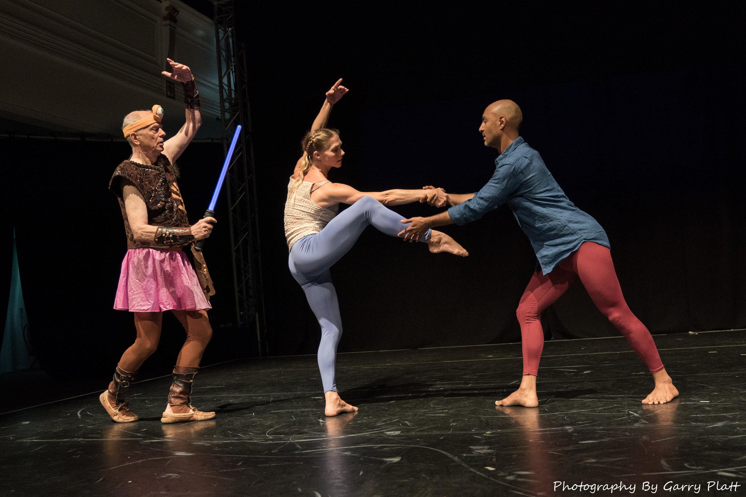 Dancers L to R: Douglas Dunn, Emily Pope, Paul Singh.. Photo by Garry Platt, 2017.