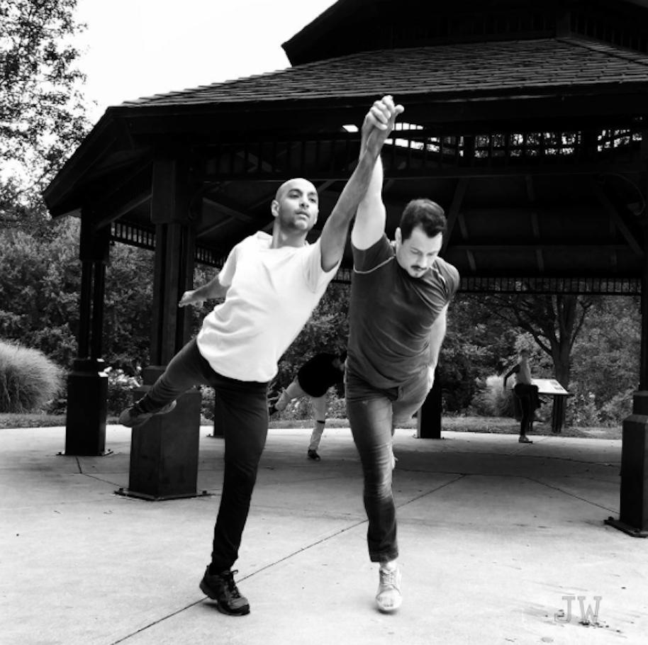 Vain Combat  in Milton, PA; Dancers: Paul Singh & Jake Szczypek. Photo by Jamie Wilson, 2017