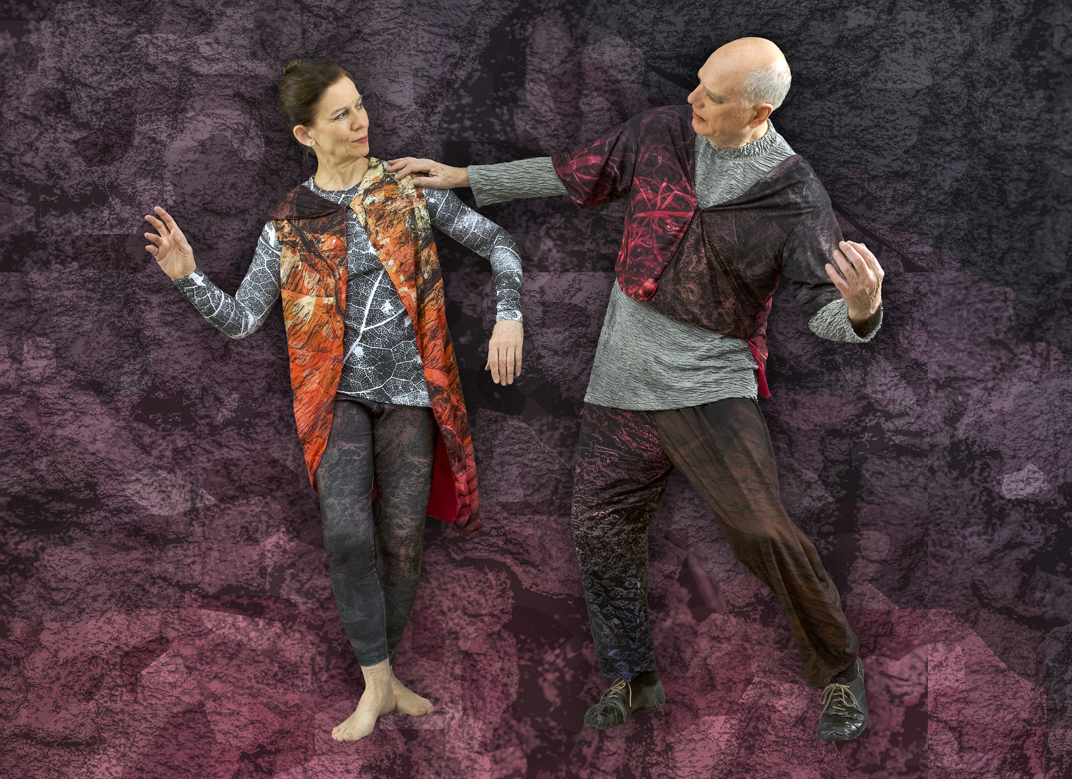 Crag,  2019. Design andytoad; Photo by Andrew Jordan. Dancers Left to Right: Grazia Della-Terza, Douglas Dunn