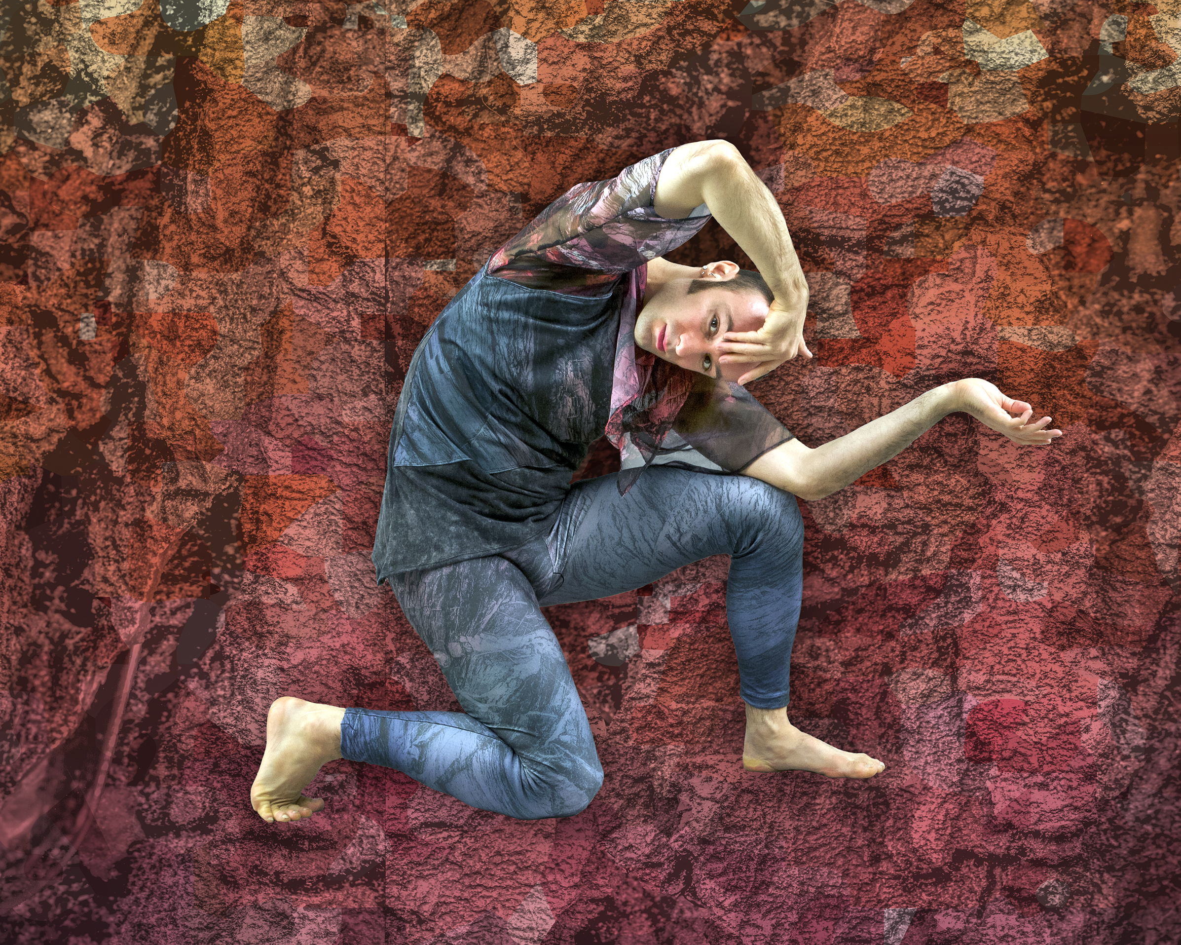 Crag,  2019. Design andytoad; Photo by Andrew Jordan. Dancer: Christopher Williams