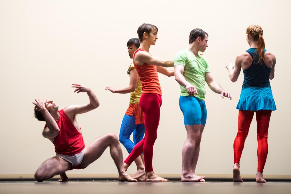 Douglas Dunn + Dancers,  Aubade  Rehearsal, Photo by Ron Antonelli, 2014