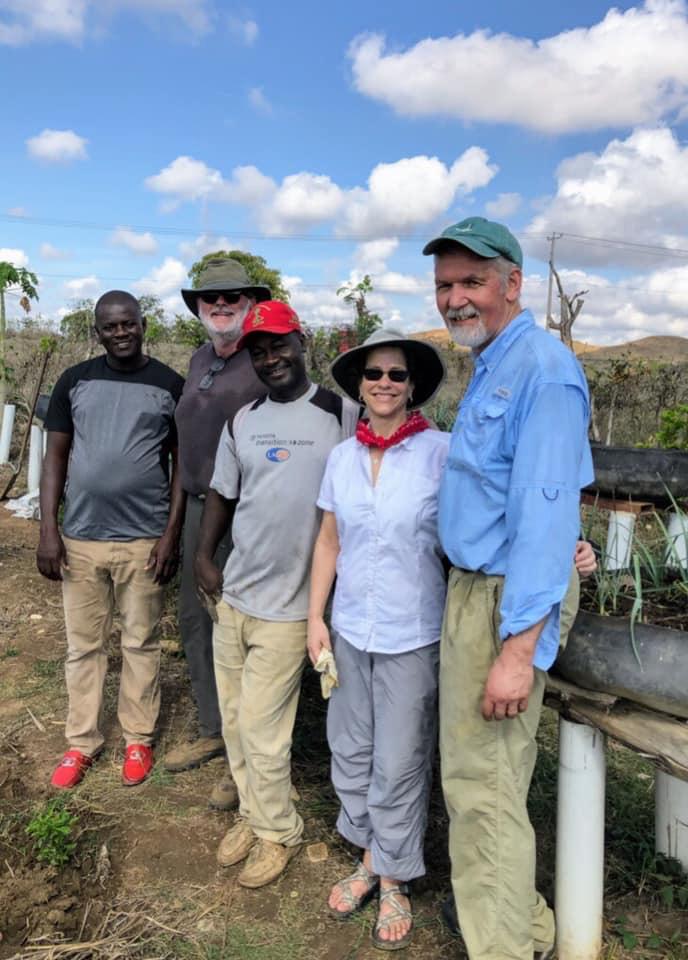 Robert,Becky, D'ifficile, MPP agronomist, Bailey, villager.jpg