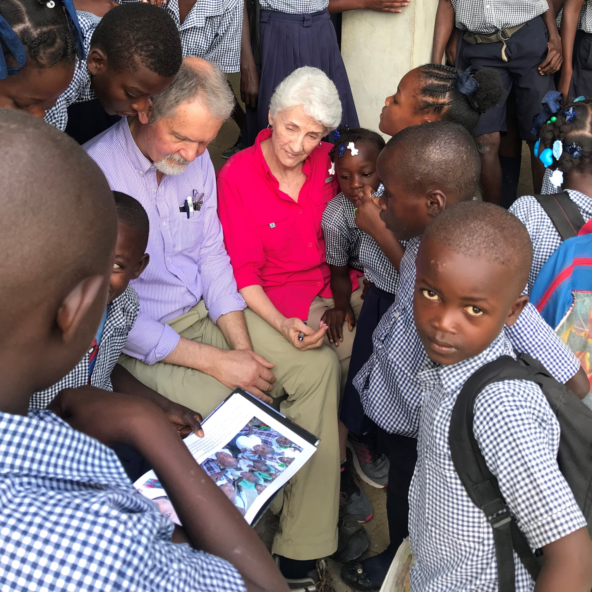 Sharing the Photo Book at the School