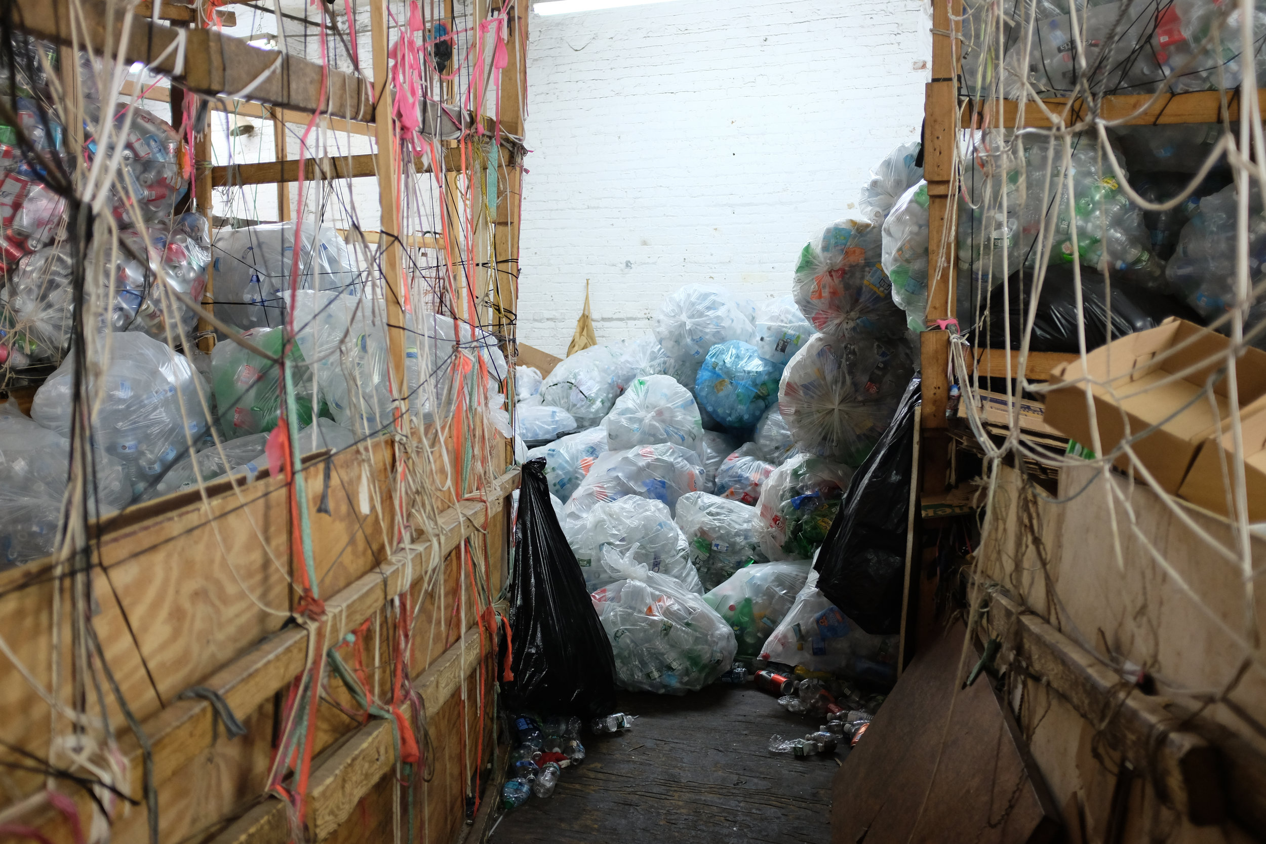 Inside the 62nd Street recycling center.