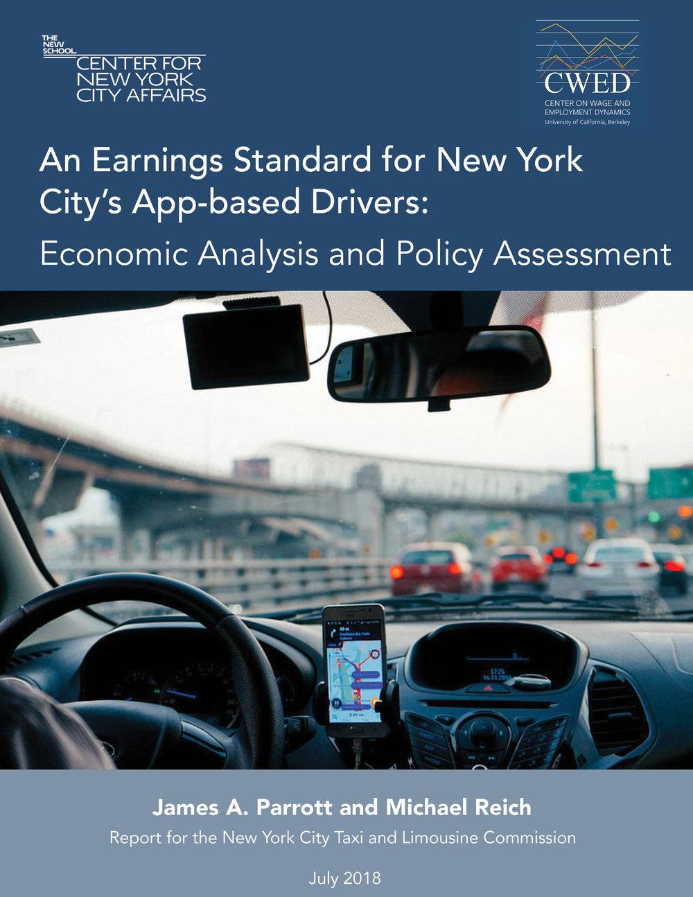 An Earnings Standard for New York City's App-based Drivers