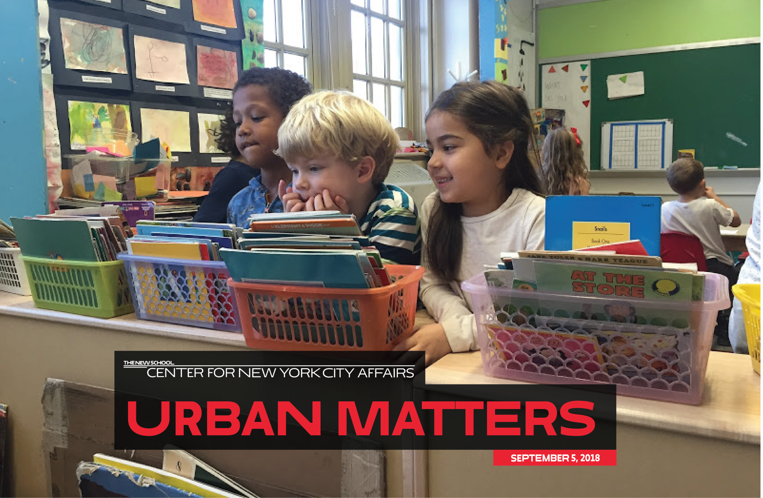 """Students at PS 146, Brooklyn, one of the first """"Diversity in Admissions"""" schools in the city."""
