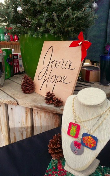 Denver Artist Jana Hope embraced the holiday spirit in her display! You can see more of Jana  Here