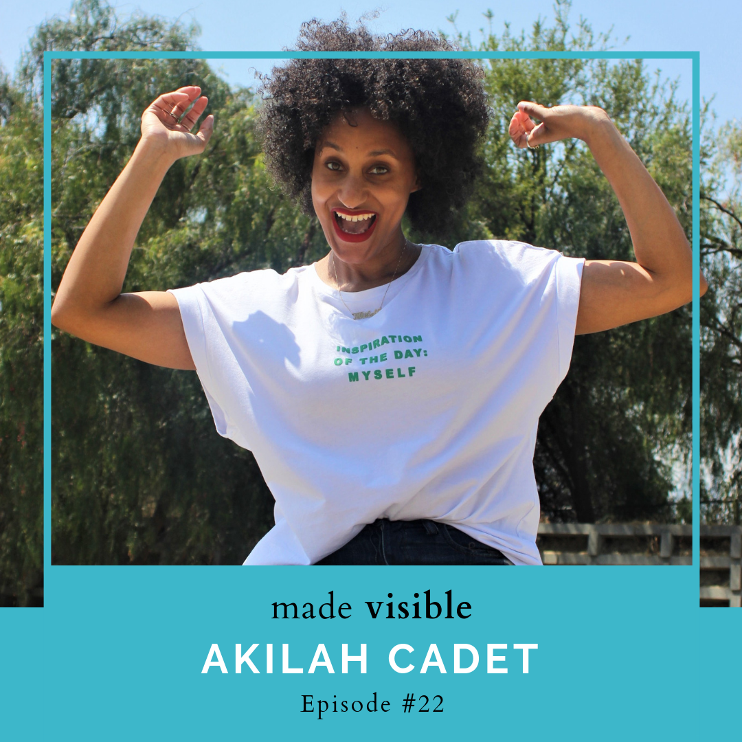 Made Visible Podcast    Dr. Akilah Cadet has been diagnosed with pericarditis, coronary artery spasms, and orthostatic hypotension, but she's still searching for a reason why she's experiencing intense and chronic pain on the left side of her body. On this episode, we talk about how why she no longer thinks of her health journey as a temporary bump in the road, why she decided to start talking about her health with clients, and how she advocates for herself, despite the bias she encounters as a woman of color, so she can find answers. Take a listen (  Spotify   and   iTunes   ) to her interview with the amazing     Harper Spero  .
