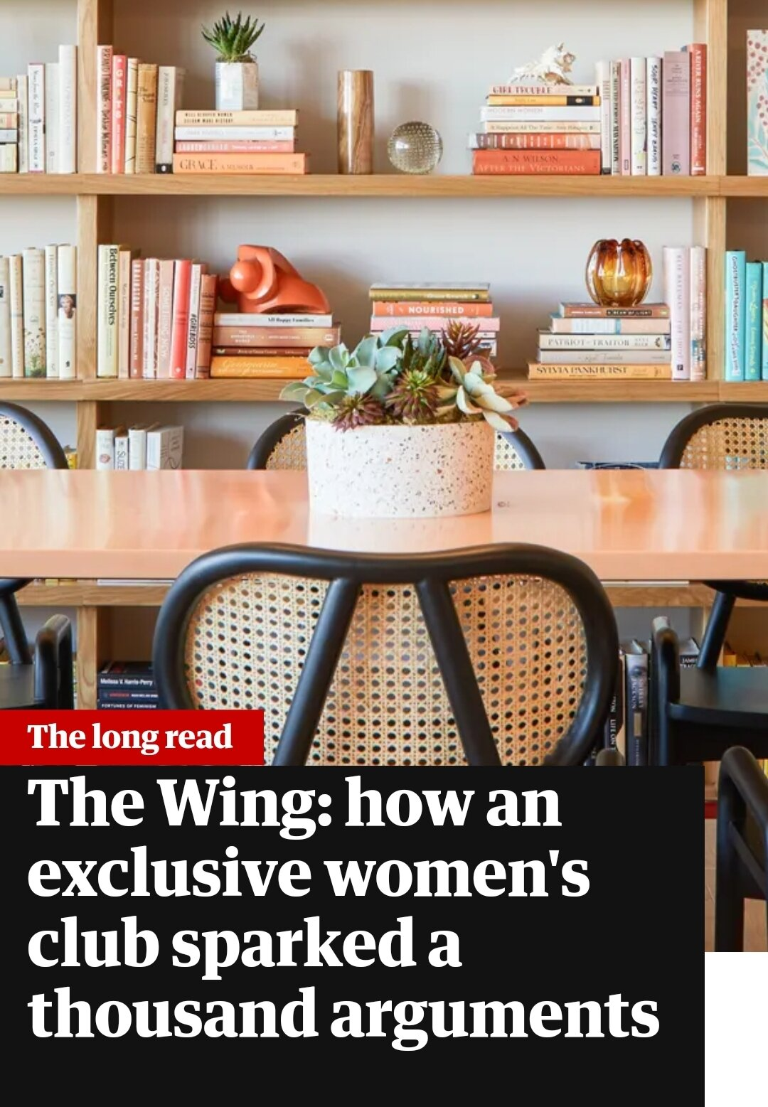 The Wing: how an exclusive women's club sparked a thousand arguments    Dr. Cadet is a featured perspective in this well written piece by   Linda Kinstler  . The Wing, which Dr. Cadet is a member, has been attempting to recover from a racist  incident  with now a former black member in their Los Angeles location. As you know, Dr. Cadet advocates for WOC, POC, marginalized communities, but especially black women.  Take some time to read this thought provoking   article  .