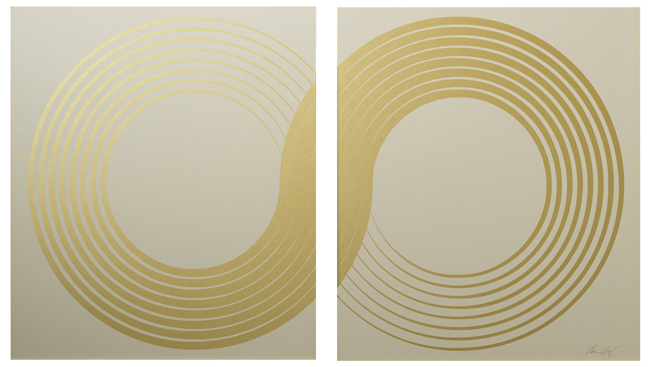 """Infinity Diptych  , 2015.   Screen print. Open edition. Ink, paper. Each panel measures 20"""" x 23"""".  Inquire"""