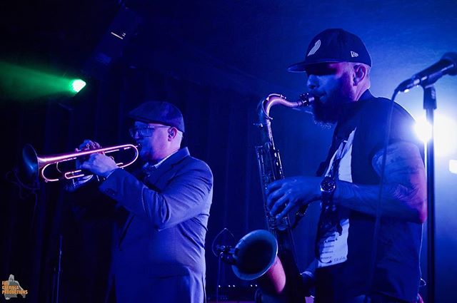 Heading to @sessionsmusichall (5/10) in Eugene and Boise's @theolympicboise (5/11)! Tickets available via or website ✌🏽 🔥 📸: @fatguerilla . . . #livemusic #liveshows #hornsection #eugeneoregon #boiseidaho #saxophone #tenorsax #trumpet #monettetrumpet