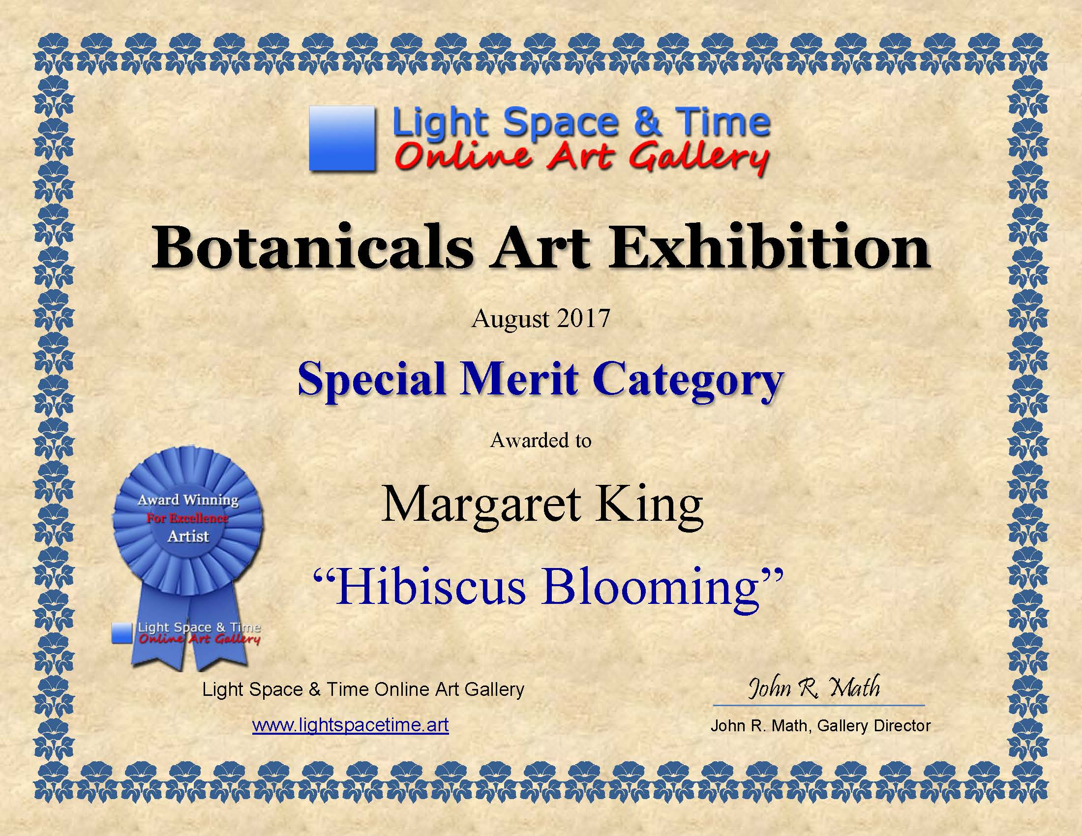 SM - Margaret King - BOTANICALS  ART EXHIBITION AWARD CERTIFICATE.jpg