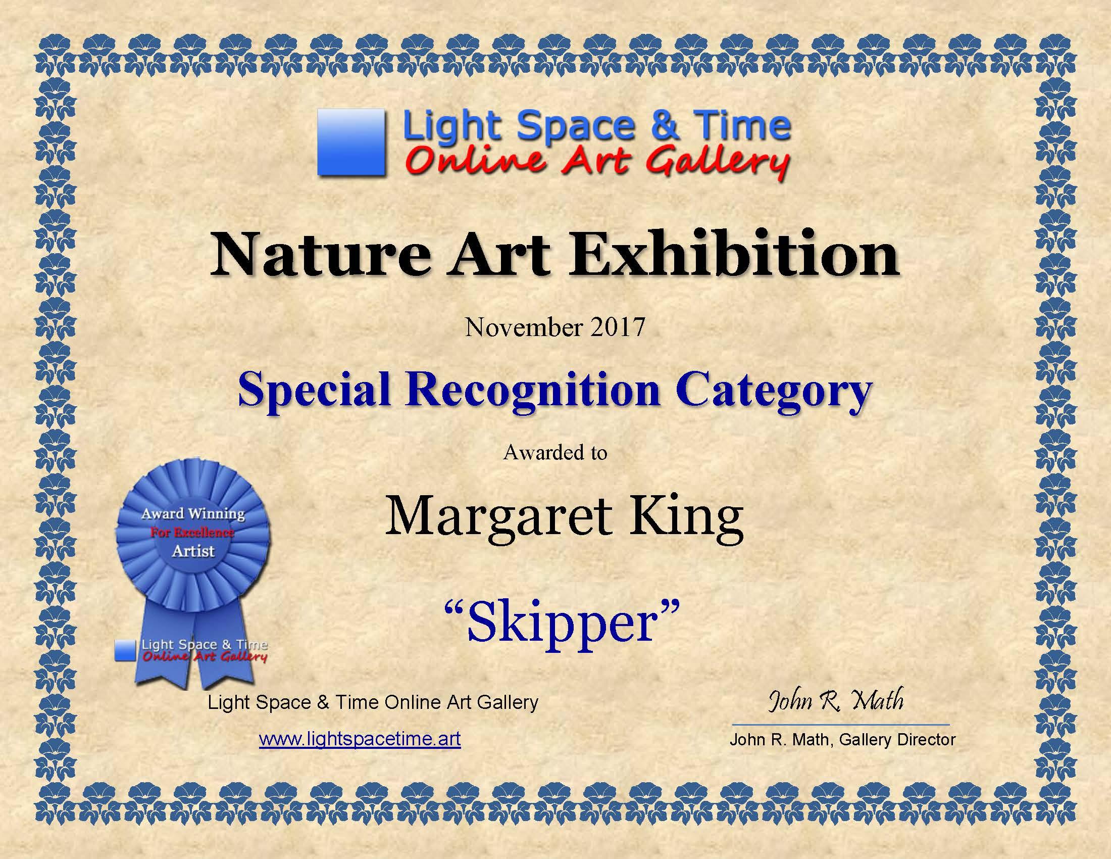 SR - Margaret King - NATURE - ART EXHIBITION AWARD CERTIFICATE.jpg