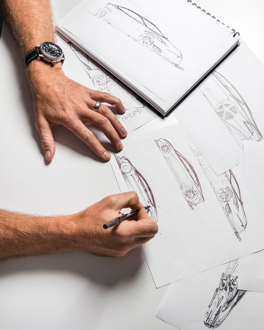Tesla design sketches