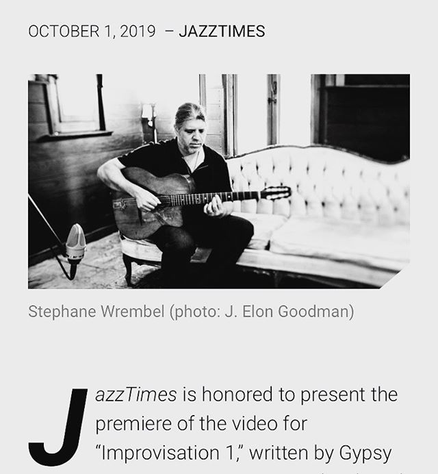 Today Jazz Times Magazine spotlights the first film of a series of Salt Stage films  of the Solo work of Django Reinhardt (link in Bio above) performed by the one and only Stephane Wrembel. Also a great write up on Stephane's work.