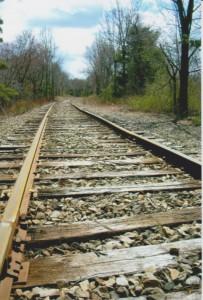 Railroad tracks, Hudson NY